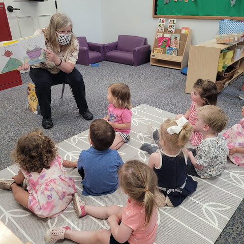 Karla reading to the toddlers